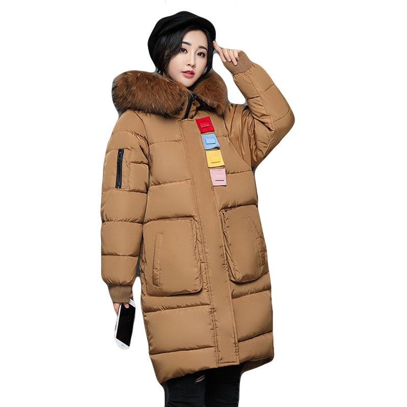 High Quality Women Winter Parkas 2017 New Fashion Female Medium-long Loose Cotton-padded Wadded Jacket Coat Plus Size 3XL CM1392 high quality women winter parkas 2017 new fashion female medium long loose cotton padded wadded jacket coat plus size 3xl cxm206