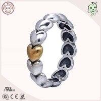 Top Qualität Europäischen Berühmte Marke Neue Kollektion Liebe Herz Design 925 Echtem Silber Verlobungsring