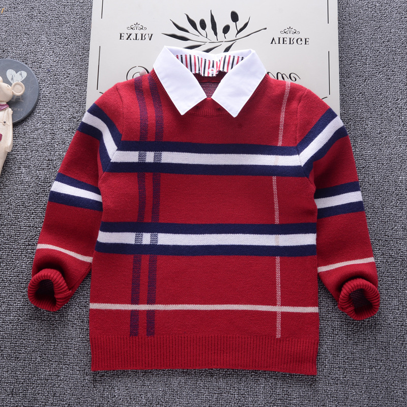 AD England Style Autumn Winter Cotton Sweater Cotton Warm Children Clothing Boys Girls Knitted Sweater Kids Spring Wear New