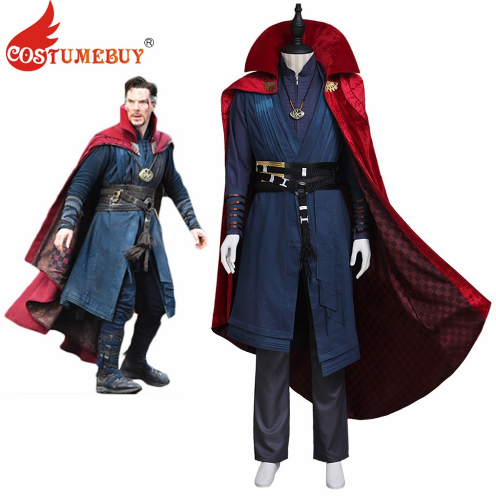 CostumeBuy Doctor Strange Stephen Vincent Strange Cosplay Adult Men s Costume Outfit With Necklace Halloween Party