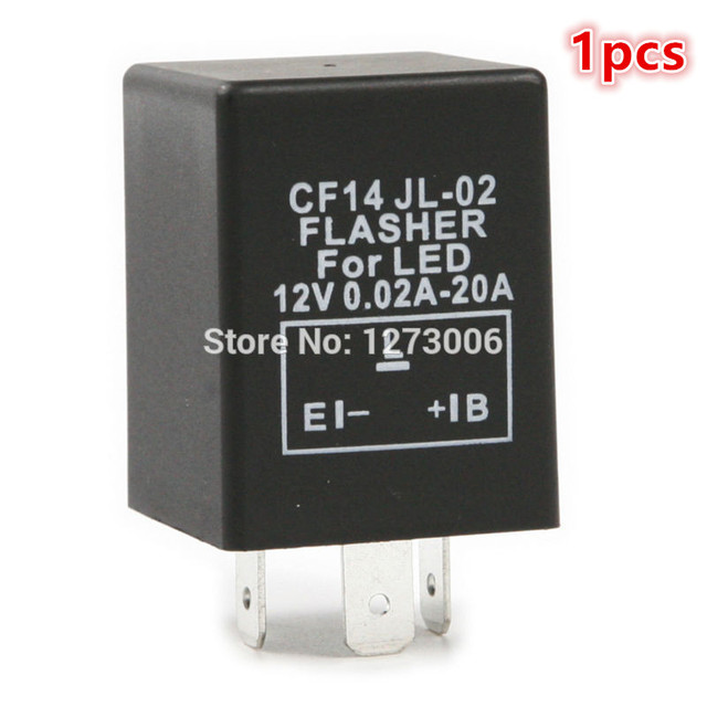 Hot Sale 12V 3 Pin Car Electronic LED Flasher Relay To Fix LED Light
