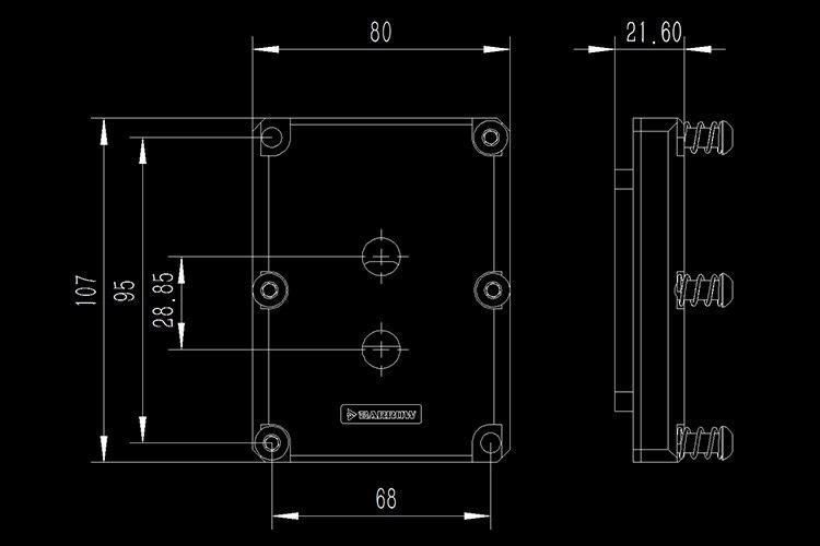 Купить с кэшбэком Barrow CPU Water Block use for Intel SKYLAKE-E-LGA3647 Socket RGB Light compatible 5V GND 3PIN Header in Motherboard Copper
