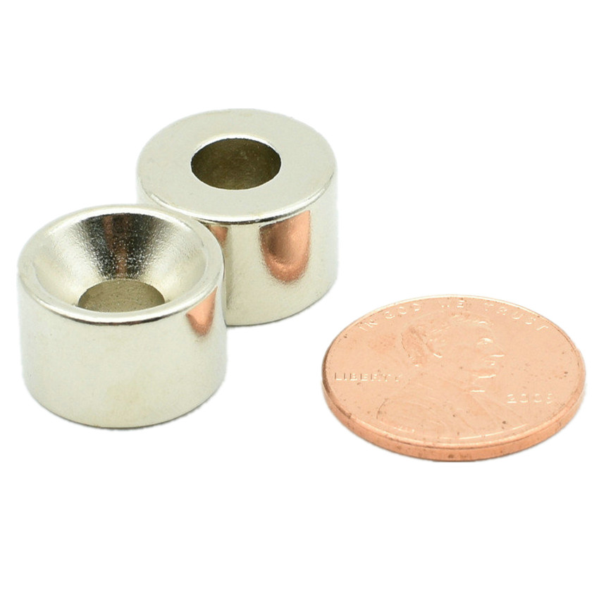 NdFeB Countersunk Magnet about Dia. 15x10 mm thick M5 Screw Countersunk Hole Neodymium Rare Earth Permanent Magnet 24-300pcs 200 1000pcs pack ndfeb countersunk magnet dia 10x3 mm thick m3 screw countersunk hole n42 neodymium rare earth permanent magnet