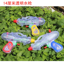 14cm transparent Mini gun water guns kids Christmas gifts for childrens toys factory direct wholesale SQ001