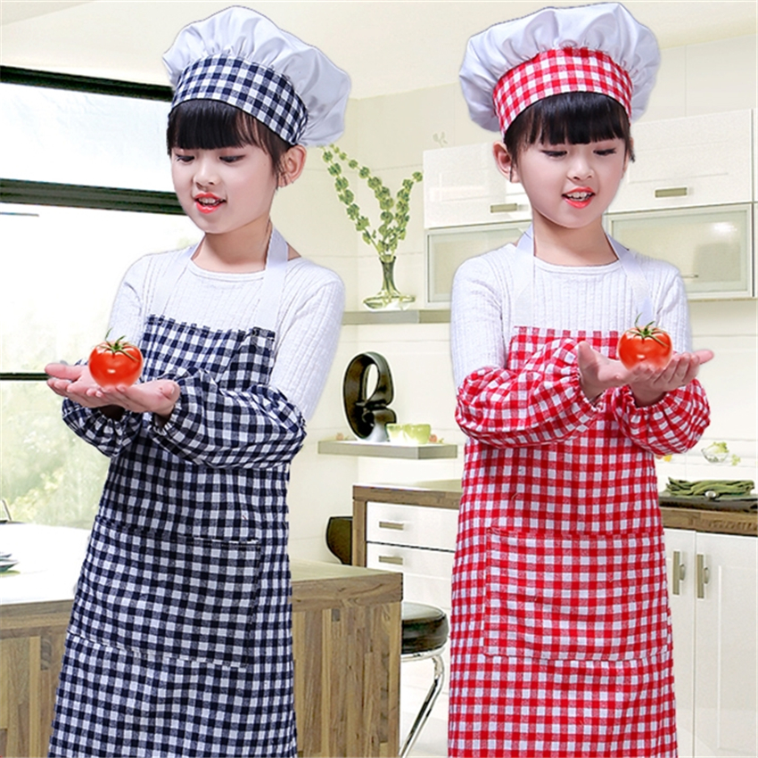 Children Chef Uniform Cosplay for Chef Jacket Costumes Kitchen Apron Hat Cuff Clothing Set Boys Girls Party Performance Uniforms