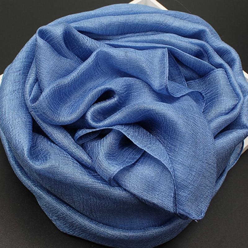 Hijab Scarf Shawls Wraps Foulard Silk Bandana Beach-Poncho Cotton Femme Women Solid