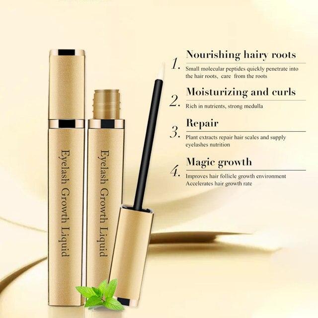 Eye Lashes Growth Eyelash Growth Enhancer Serum Eyebrow Eyelash Growth Treatment Lash Curly Thicker and Longer Makeup Mascara 5