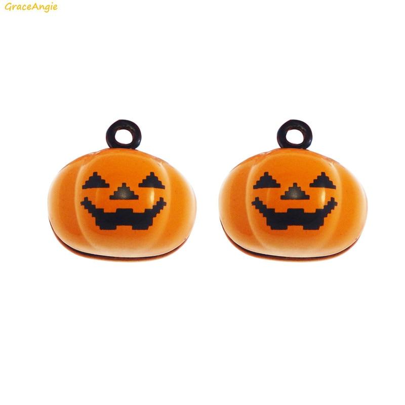 Home & Garden 10pcs Halloween Pumpkin Beads Enamel Charms Pendant Diy Jewelry Findings