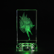 Popular Crystal League of Legends Action Figure Laser Engraving Block LOL Birthday Souvenirs