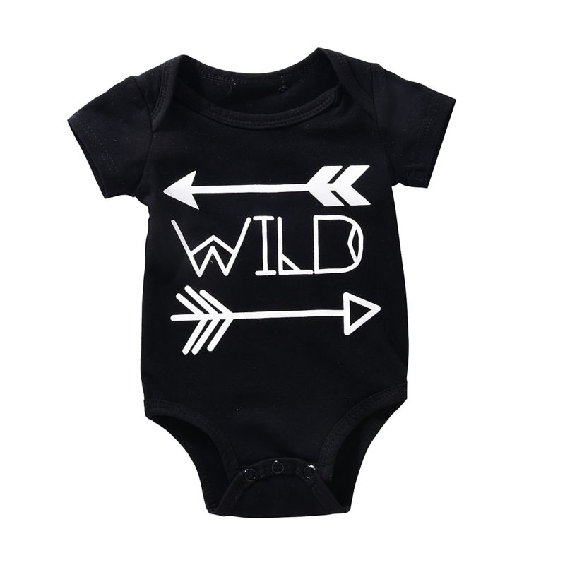 Mikrdoo Baby Boy Girl Rompers Cotton Black Wild Letters Printed Body Suit Newborn Infant Arrows Romper Cool Jumpsuit  For 0-18M newborn baby rompers baby clothing 100% cotton infant jumpsuit ropa bebe long sleeve girl boys rompers costumes baby romper