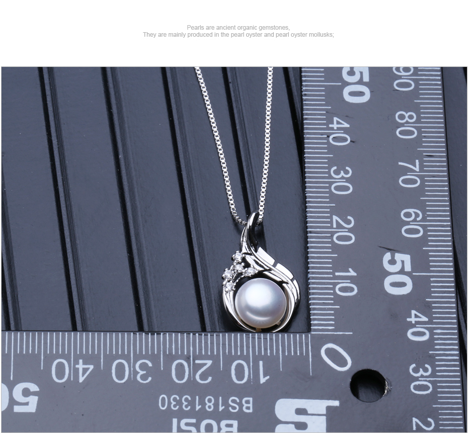 FENASY Bohemian Ruby Necklace Pearl Jewelry necklaces & pendants flower Jewelry,necklace women 925 silver necklace for women 13