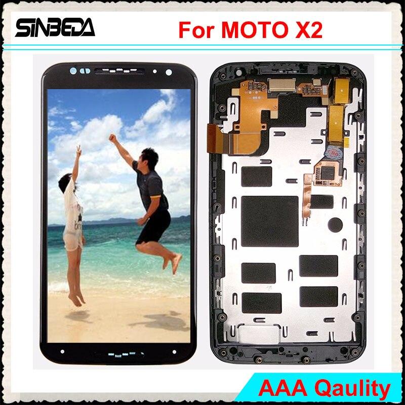 Sinbeda 100 Guarantee For Motorola MOTO X2 XT1092 XT1096 XT1097 LCD Screen Display Touch Screen Digitizer