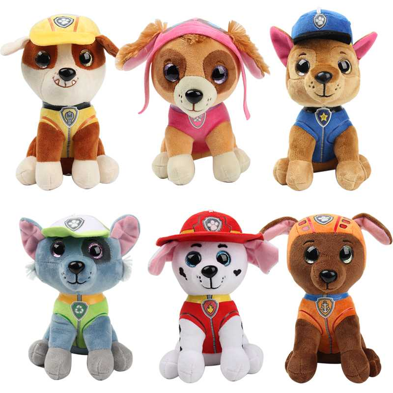 Paw Patrol Dog Plush Doll Anime Kids Toys Action Figure Plush Doll Model Stuffed and Plush Animals Toy gift Щенячий патруль