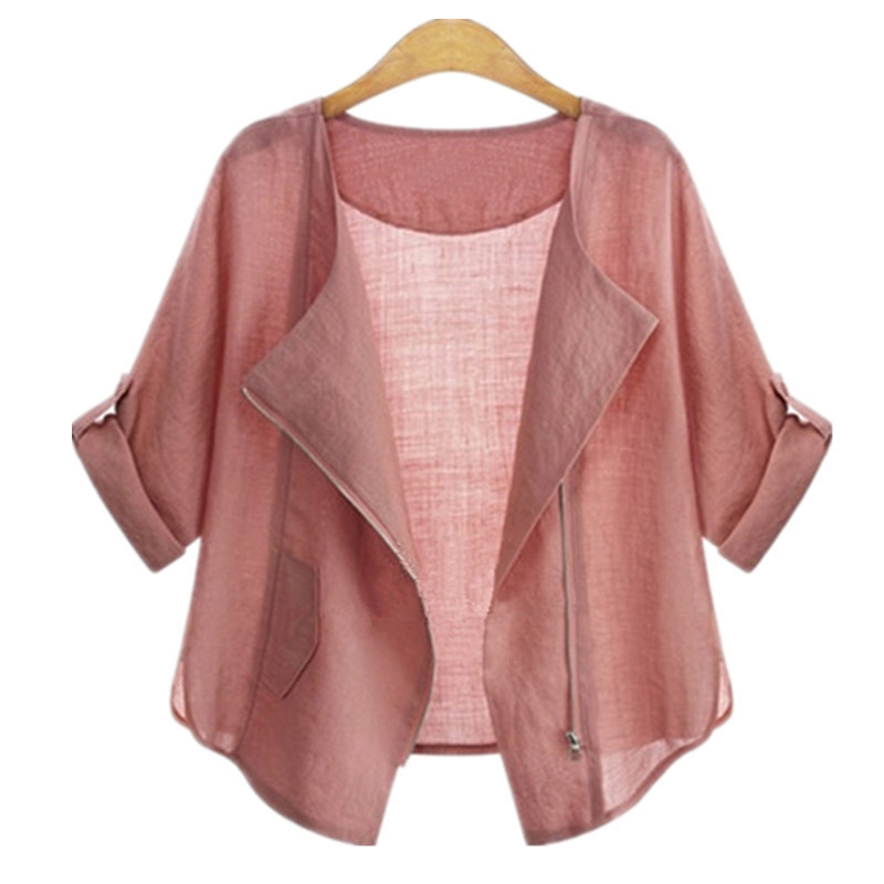 preetyladymall Foply 2017 Summer Fashion Plus Size Clothing Cardigans Casual Female Blouses and Shirts for Women Sun Protection Kimono Tops