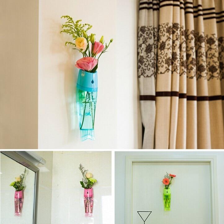 Wall Hanging Crystal plastic Planter Flower Vase Terrarium ...