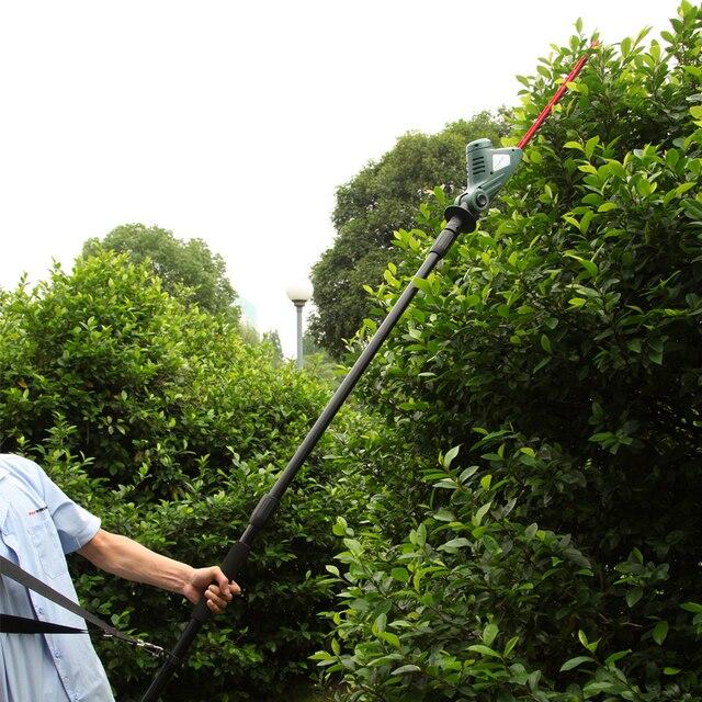 EAST garden tools 18V Li ion battery cordless pole hedge trimmer ...