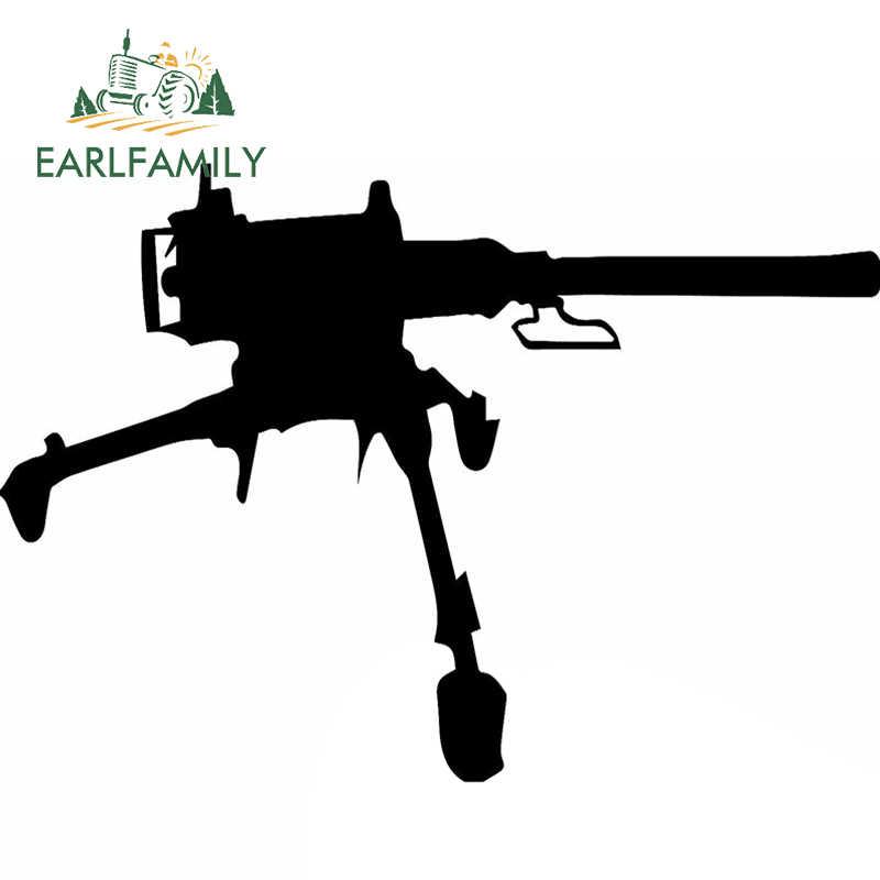 EARLFAMILY 58 см x 32,22 см 2x классический американский армейский M2 пистолет графический (один для каждой стороны) на окно автомобиля, дверь стикер виниловая наклейка