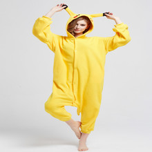 Pikachu Pijamas Animal Kigurumi Cosplay Animal Bodies Pijamas Adulto Unisex Mameluco Largo de la Manga