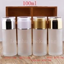 100 мл пустые бутылки из матового стекла, 100cc бутылка для эфирного масла, пустые бутылки для косметики и лосьона, прозрачная бутылка