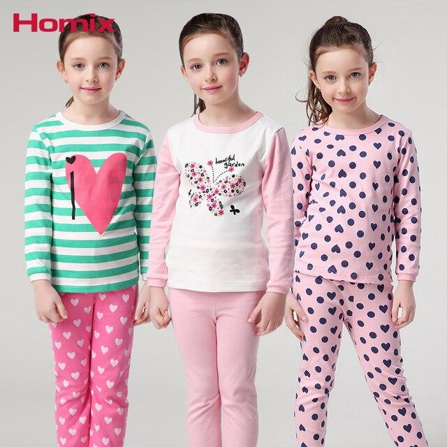 f99aed5c4 Kids Girls pajamas Sets Pyjamas Kids 3 12 Years Long Sleeve Pijamas ...