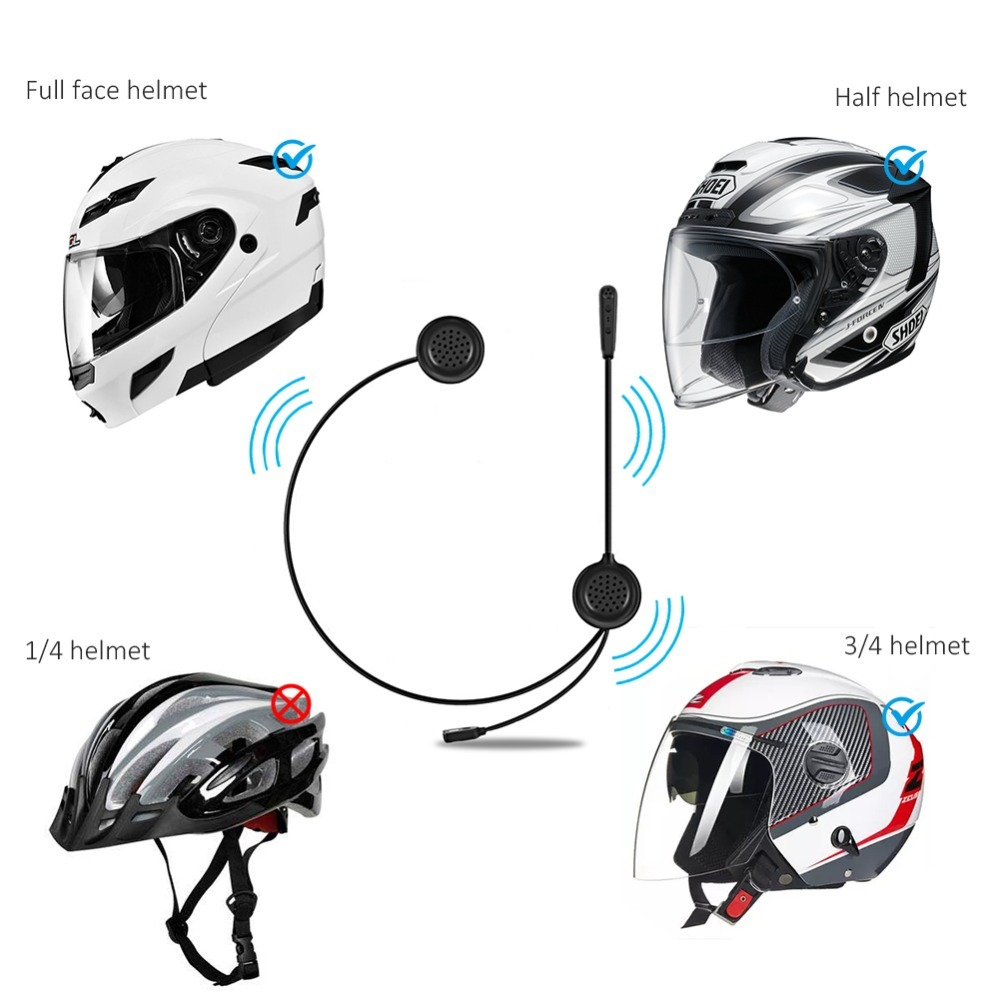 #Very Convenient # EJEAS E200 300m Bluetooth Motorcycle Helmet Wireless BT Headset Radio Without Intercom Skiing Moto 2 Riders new ejeas e200 300m motorcycle bluetooth helmet intercom for 2 riders bt wireless intercomunicador interphone headset