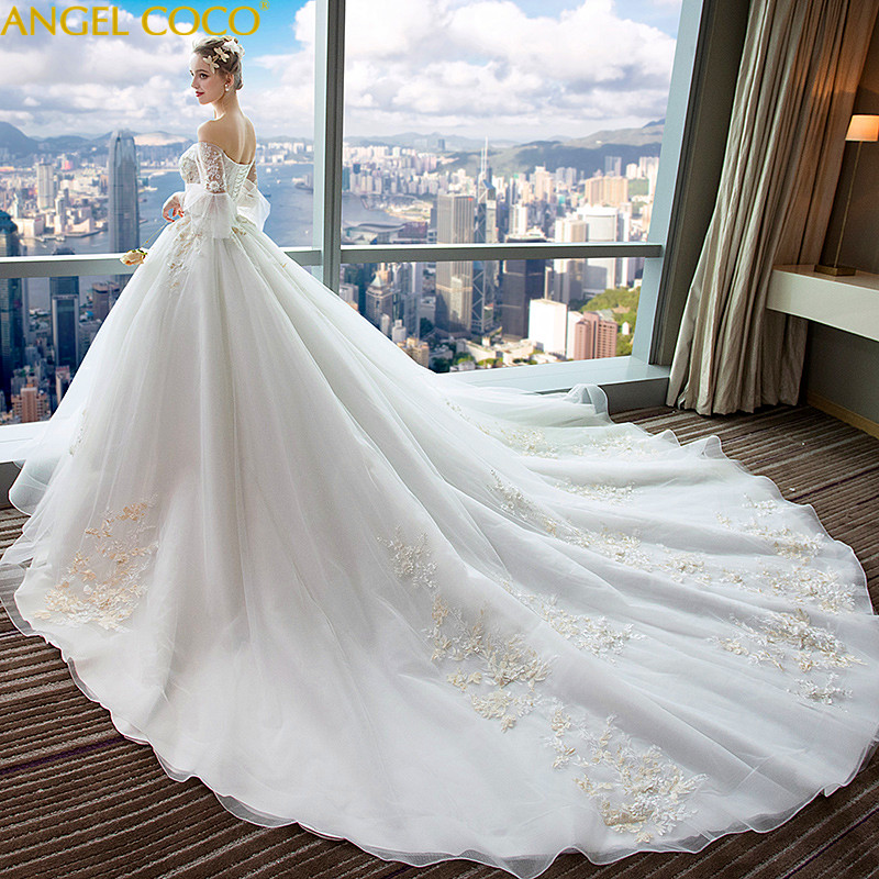 Y Luxury Maternity Dresses Long Tailing Bridal Gown Beach Wedding Pregnancy Clothes Pregnant Robe Mariage