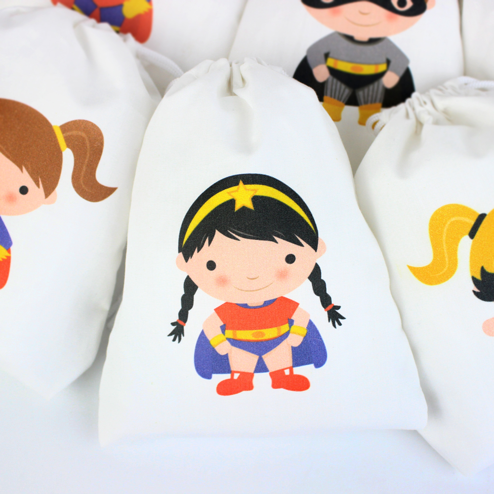 Super Heroes Party Favor Bags Gifts Bags Birthday Favor Bags Girl Boys Super Heroes Party Bags for Gifts or Treats in Gift Bags Wrapping Supplies from Home Garden