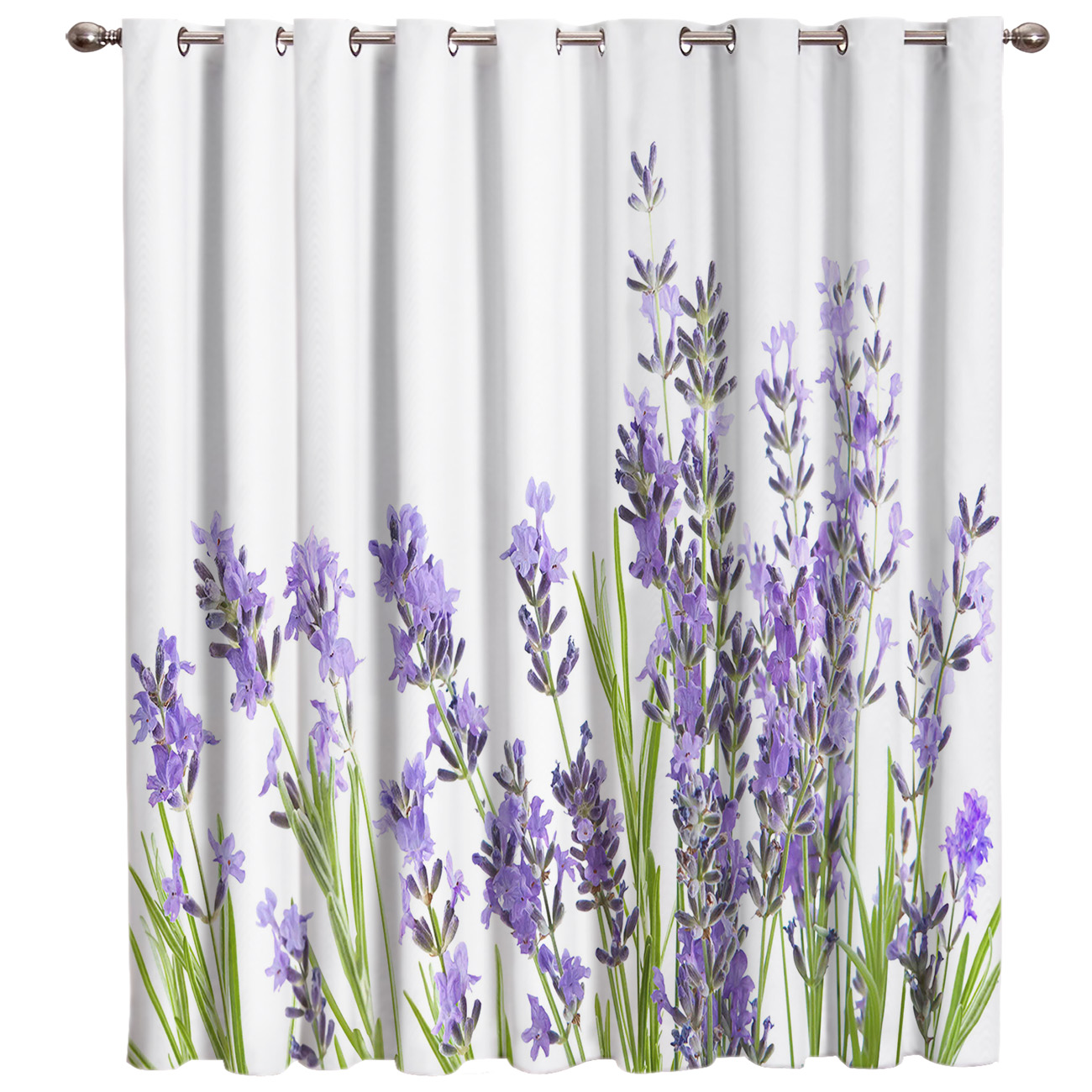 US $12.72 20% OFF|Purple Lavender Window Treatments Curtains Valance Window  Curtains Dark Blackout Bedroom Indoor Fabric Decor Kids Window Curtain-in  ...