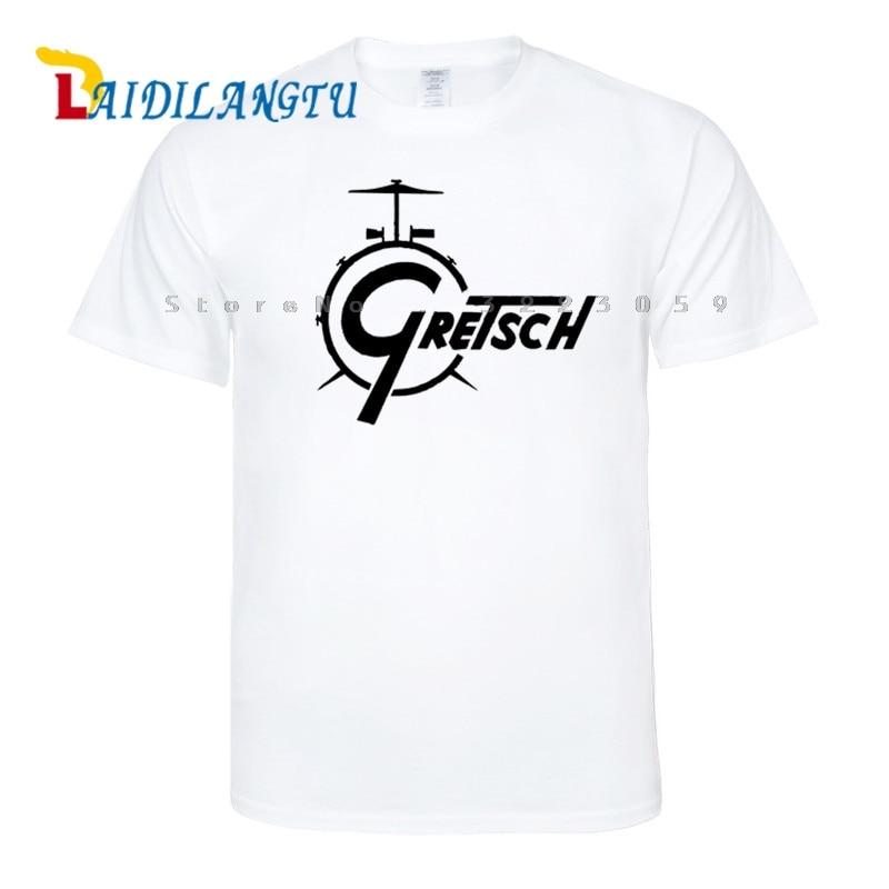 Gretsch Drums Distress New Fashion Short Sleeve T-shirt Men t shirt O-neck tops men clothes Tee