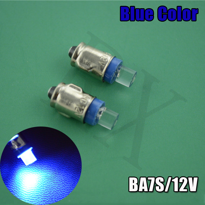 4pcs POSITIVE EARTH Blue  BA7S LED DASHBOARD GAUGE WARNING SWITCH BULB 12V RED WHITE GREEN AMBER GLB281 bprd hell on earth v 7