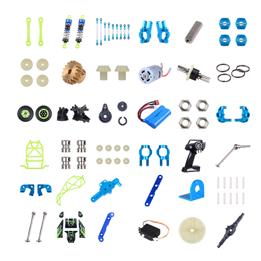 Wltoys 12428 12423 RC Car Spare Parts Classis/ rear axle/arm/wavefront box/gear/connecting piece etc. 12428 parts accessories
