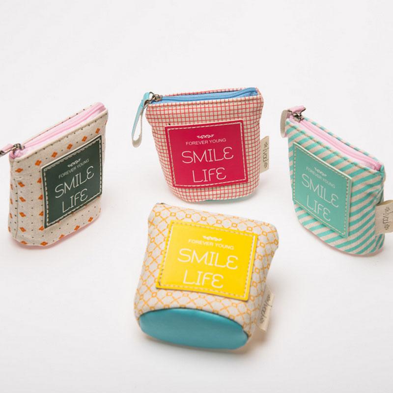 Women creative pure color minimalism Coin Purse canvas Clutch Wristlet lady Wallet Girls Change Pocket Pouch Hasp Bag Keys Case стоимость