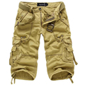 2017 Men Camouflage Multipocket Cargo Shorts Men Loose Multi-pocket Military Short Pants Summer  Shorts Bermuda Cargo 5820