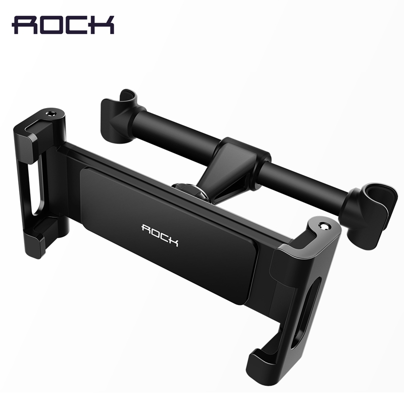 Universal Car Headrest Mount Holder for iPad Tablet, ROCK Car Backseat Holder for iPhone X 8 7 6 plus for 4-10.5 inch Devices