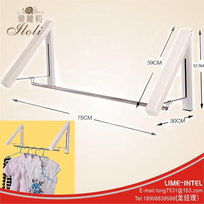 Mini folding telescopic hidden hanging clothes rack multifunctional hanger