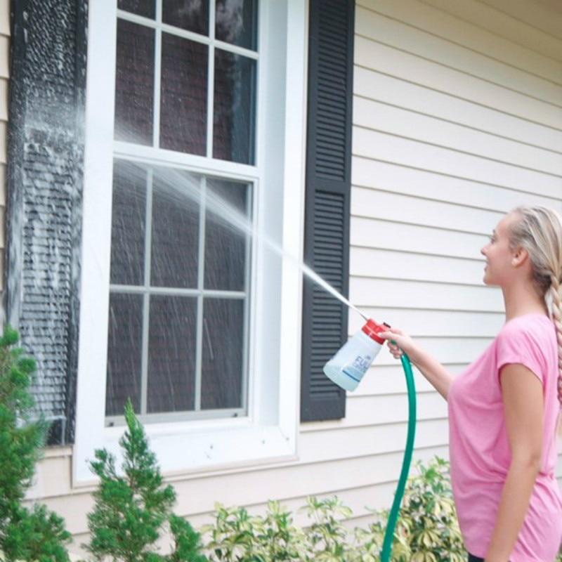 Pieno Hot Outdoor Glass Window Cleaner Giardino di Casa Tenuto In Mano Dello Spruzzo Mighty Più Piena di Pulizia Strumento Pennello Da Cucina