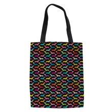 03d4309928 Doxie Dachshund diseño totalizador de la lona mujeres grandes compras  plegable bolsas para mujeres moda bolso