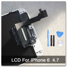 100% AAA quality Replacement For iphone 6 LCD 4.7 inch display + With Original Glass Touch Screen Digitizer Assembly white