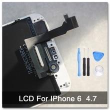 100% AAA calidad de reemplazo para el iphone 6 LCD 4.7 pulgadas + con cristal de originales pantalla táctil digitalizador asamblea blanco