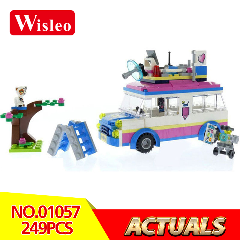 Wisleo 01057 249Pcs Girl Friends Series Mission Vehicle model Building Blocks Bricks kids Toy LegoINGlys 41333 for Birthday Gift