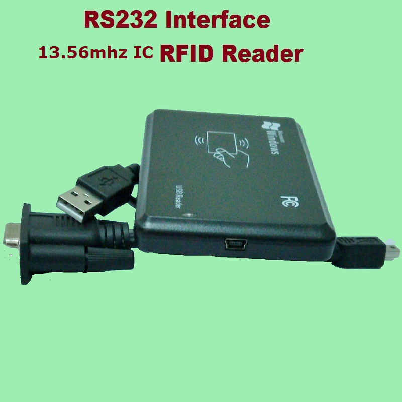 RS232 Inerface 13 56MHZ RFID IC Card Desktop USB Reader Compatible Security Proximity Sensor Smart EM100 Fast Response in Control Card Readers from Security Protection