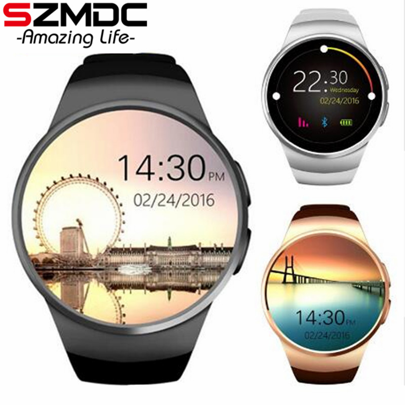 SZMDC KW18 Bluetooth Smart Watch Phone Full Screen Support SIM TF Card Smartwatch Heart Rate for apple IOS huawei Android все цены