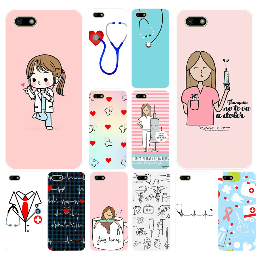 Glorious 022fg Cartoon Medicine Nurse Doctor Dentist Soft Silicone Tpu Cover Case For Huawei Honor 7a 5.45 Pro 5.7 7c 7x Y5 2018 Case Bringing More Convenience To The People In Their Daily Life Cellphones & Telecommunications