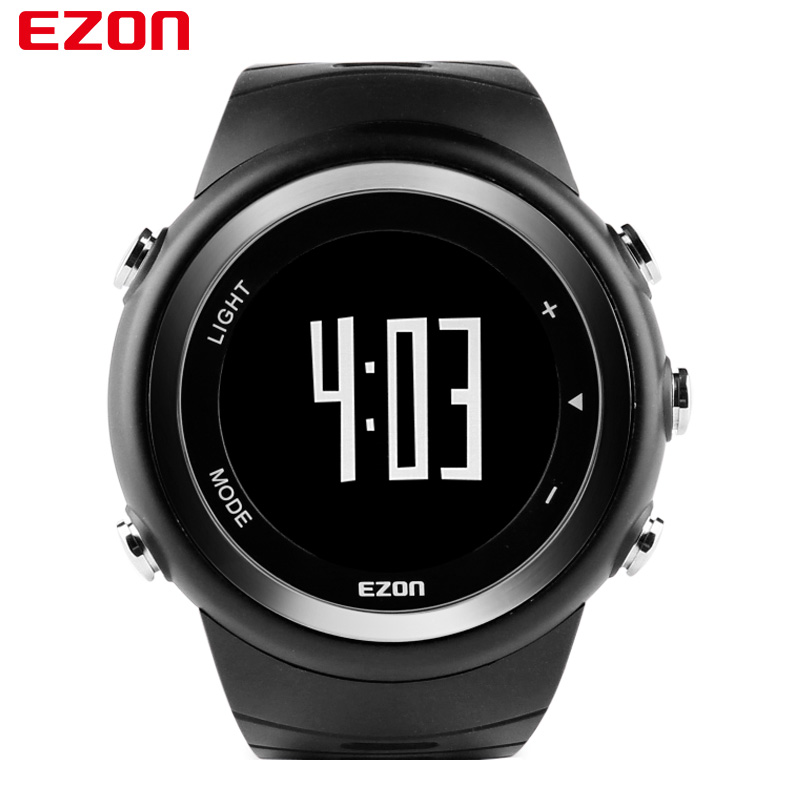 EZON Brand T023 Running Sport Watch Pedometer Calorie Monitor Digital Watch Outdoor Running Sports Watches Waterproof 2017 New new ezon t043 optical sensor heart rate monitor pedometer calorie counter digital sport watch powerd by philips wearable sensing