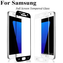 Full Cover Tempered Glass For Samsung Galaxy A3 A5 A7 2017 J5 J7 J3 2016 J5 Prime S6 S7 C5 C7 A8 Screen Protector Toughened Film(China)