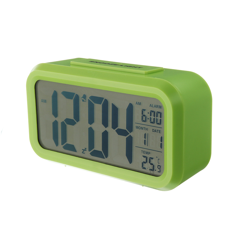 1Pcs Alarm Clock Large LED Nightlight Sensor Snooze Mute Calendar Table Desktop Electronic Led Clocks Digital Desk Clock