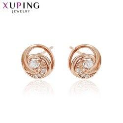Xuping prosty elegancki wysokiej jakości kolczyki dla kobiet boże narodzenie prezenty na święto dziękczynienia biżuteria 96504