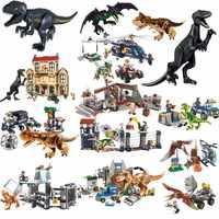 Jurassic World Dinosaur Park Toys Set Building Brick Blocks T-rex Model Compatible With Legoings Children Christmas Gift