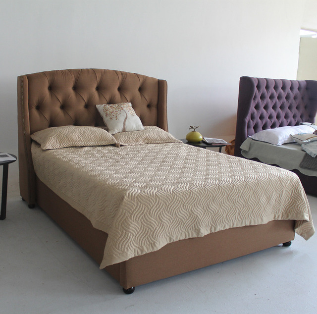 The hottest fabric furniture for latest double bed frame designs in ...