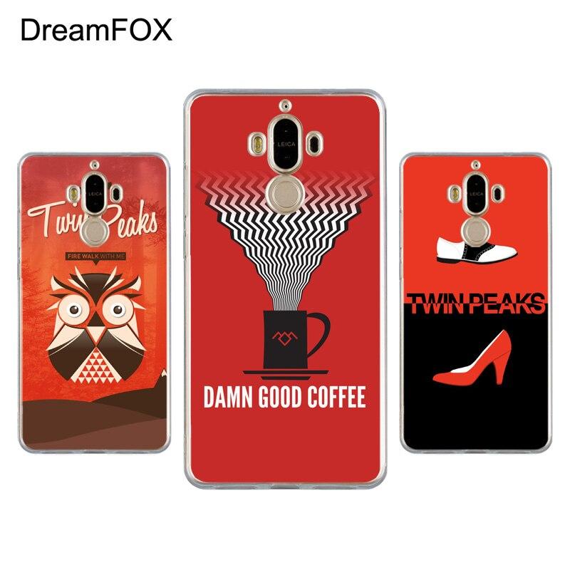 DREAMFOX K250 Twin Peaks Style Soft TPU Silicone Case Cover For Huawei Mate G 7 8 9 10 Nova 2 Lite Pro Plus